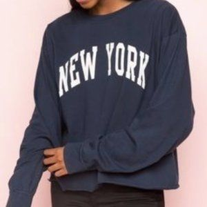Brandy Melville New York Cropped T-Shirt